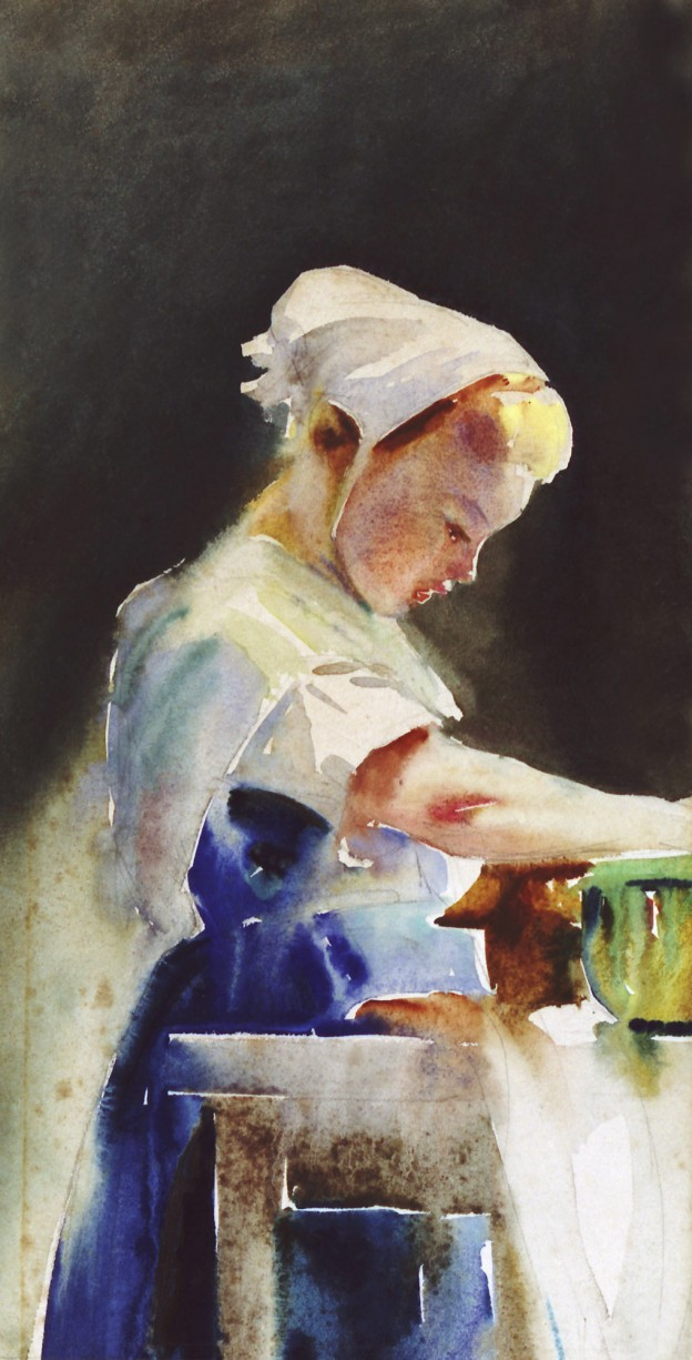Wilhelmina Douglas Hawley - Jonge vrouw in keuken